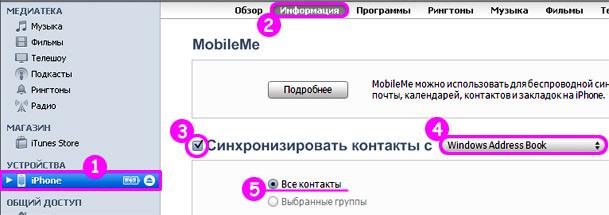 Kontakt-iPhone