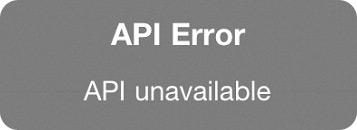 API unavailable